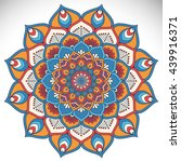 flower mandalas. vintage... | Shutterstock . vector #439916371