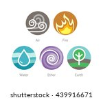 ayurvedic elements water  fire  ... | Shutterstock .eps vector #439916671