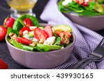 salad with strawberry  spinach... | Shutterstock . vector #439930165