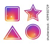 colorful shapes set. vector...