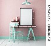 3d illustration interior....   Shutterstock . vector #439934101