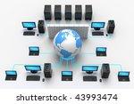 3d illustration of computer... | Shutterstock . vector #43993474