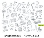 household appliances doodle... | Shutterstock .eps vector #439935115
