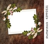 flowered framework for greeting ...   Shutterstock . vector #43993531