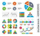 data pie chart and graphs. file ... | Shutterstock .eps vector #439935991