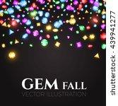 falling multicolor gems....