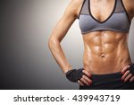 cropped image of female model... | Shutterstock . vector #439943719