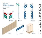 set with street elements. city...   Shutterstock .eps vector #439944661