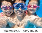portrait of a happy dad with... | Shutterstock . vector #439948255