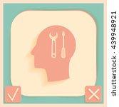 vector icon head think... | Shutterstock .eps vector #439948921