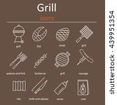 grill icons  grilling... | Shutterstock .eps vector #439951354