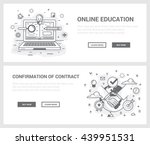vector concept  a set of... | Shutterstock .eps vector #439951531