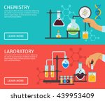 two horizontal professor of... | Shutterstock .eps vector #439953409