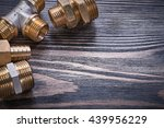 composition of brass connectors ... | Shutterstock . vector #439956229