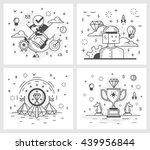 set of vector illustrations in...   Shutterstock .eps vector #439956844