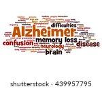 concept conceptual alzheimer s... | Shutterstock . vector #439957795