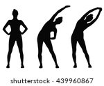 Vector Silhouettes Of Sportive...