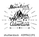 mountains hand drawn sketch... | Shutterstock .eps vector #439961191
