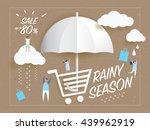 sale banner rainy season on... | Shutterstock .eps vector #439962919