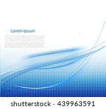 abstract background with waves | Shutterstock .eps vector #439963591