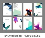 geometric cover background ... | Shutterstock .eps vector #439965151