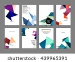 geometric cover background ... | Shutterstock .eps vector #439965391