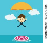 businessman focused on a target ... | Shutterstock .eps vector #439973485