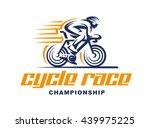 cycling race vector logo...   Shutterstock .eps vector #439975225