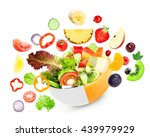 fruit and vegetable. mixed... | Shutterstock . vector #439979929