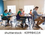 education  learning and people... | Shutterstock . vector #439984114