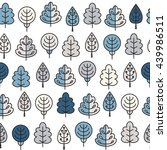 seamless pattern with outline... | Shutterstock .eps vector #439986511