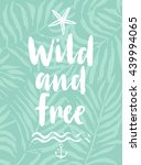 wild and free hand drawn... | Shutterstock .eps vector #439994065