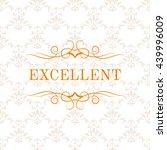 vintage calligraphic logo... | Shutterstock .eps vector #439996009