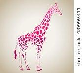Vector Giraffe Silhouette ...