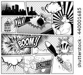 comics template. vector retro... | Shutterstock .eps vector #440001685