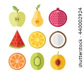 vector fruits slices set....