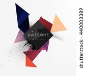geometric vector background.... | Shutterstock .eps vector #440003389