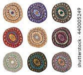 hand drawn colorful indian art...   Shutterstock .eps vector #440005249