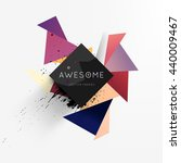 geometric vector background.... | Shutterstock .eps vector #440009467