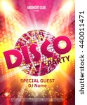 disco party poster. background... | Shutterstock .eps vector #440011471