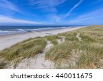 peaceful beach and dunes on... | Shutterstock . vector #440011675