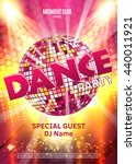 dance party poster background... | Shutterstock .eps vector #440011921