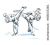 karate fighters  vector...   Shutterstock .eps vector #440015281