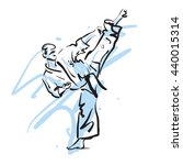 karate kick  vector illustration | Shutterstock .eps vector #440015314