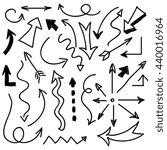 hand drawn arrows vector.  | Shutterstock .eps vector #440016964