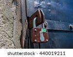 lock on the door   Shutterstock . vector #440019211
