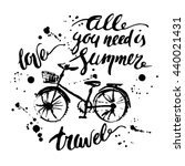hand drawn ink summer design.... | Shutterstock .eps vector #440021431