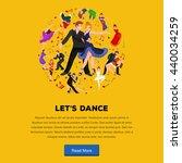 couple dancing modern dance ... | Shutterstock .eps vector #440034259