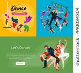 dancing people young man and...   Shutterstock .eps vector #440034304