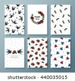 set of vector invitations in... | Shutterstock .eps vector #440035015